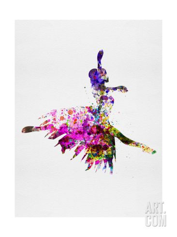 Ballerina on Stage Watercolor 4 Art Print by Irina March at Art.com