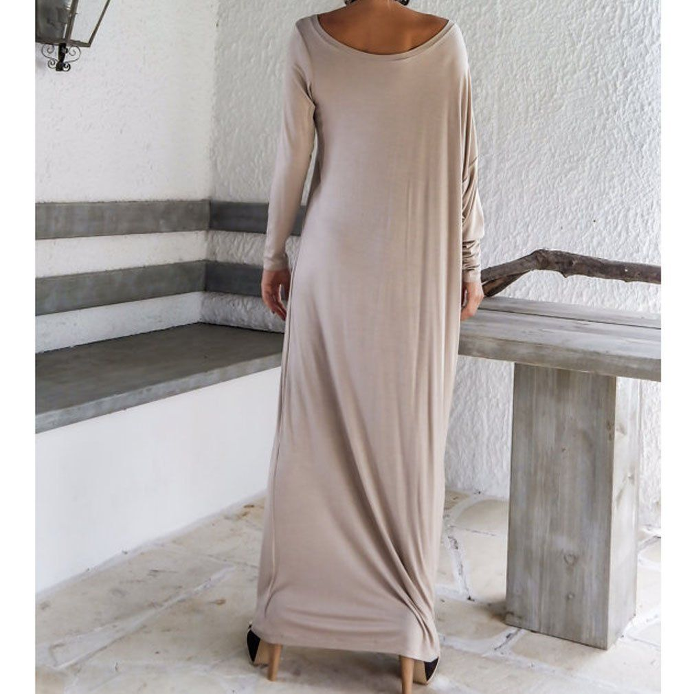 Honghu Damen Sommer Mode Elegant Bankett Abendkleider Lose Lang ...