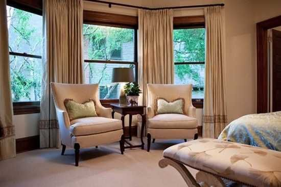 30 Bay Window Decorating Ideas Blending Functionality With Modern Interior Design Traditional Bedroom Bedroom With Sitting Area Bedroom Design
