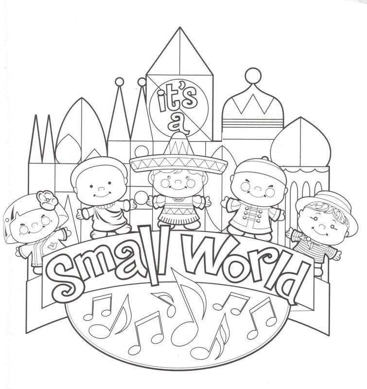 It S A Small World Disneyland Coloring Pages Disney Coloring Pages Free Disney Coloring Pages Disney Colors