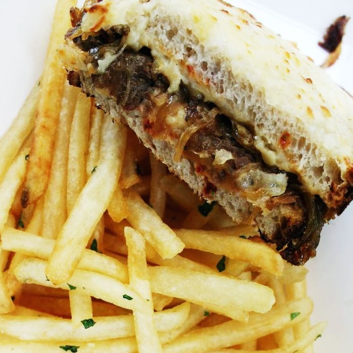 Le Beef Croque w/ garlic fries - Monsieur Madame Food Truck