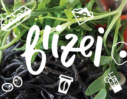 "branding for cozy restaurant ""bliżej"" (means ""closer"" in polish) based in gdynia, poland"