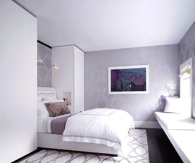 Das weiße Schlafzimmer mit Lavendel Tapeten aufpeppen ...