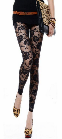 f8592b2a2e7 Women s Floral See-Through Leggings