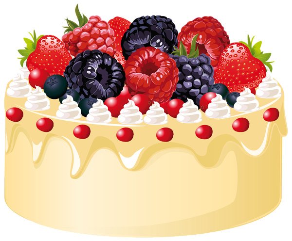 Fruit Cake with Candle PNG Clipart Image Desenhos de
