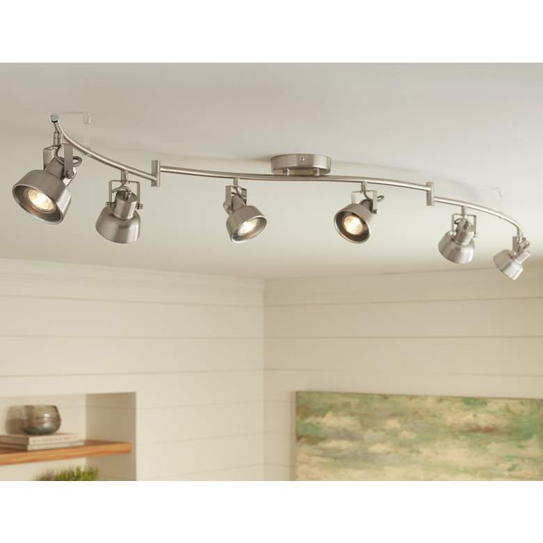Lenny 6 Light Swing Arm Track Fixture