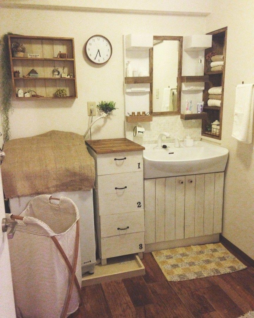 備付の洗面台でもお洒落に インテリア 家具 インテリア 収納 無印良品の家