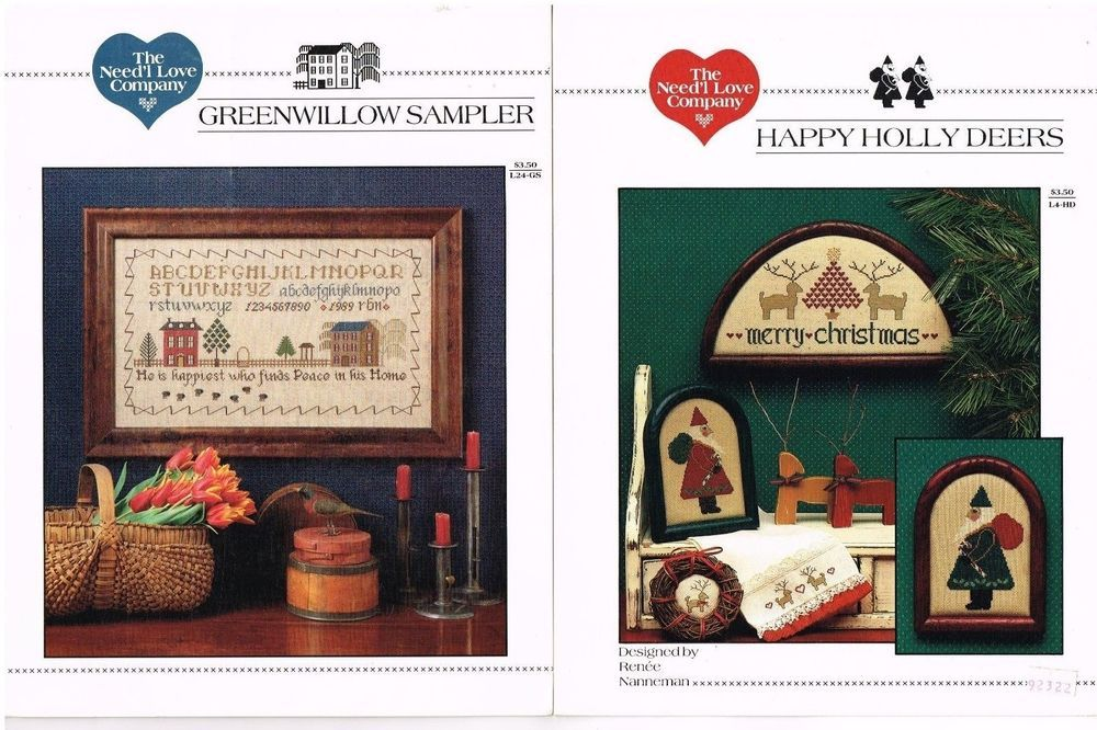 Details about Cross Stitch Pattern Book/Leaflet Lot 7 Mostly ...