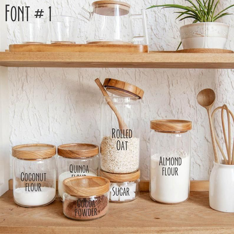 Canister decals Organisation labels Spice labels Jar stickers   Etsy