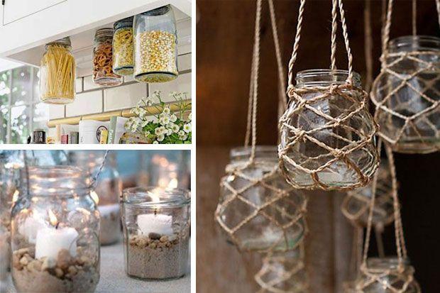 reciclar tarros de cristal lo ltimo en decoracin low cost - Lo Ultimo En Decoracion