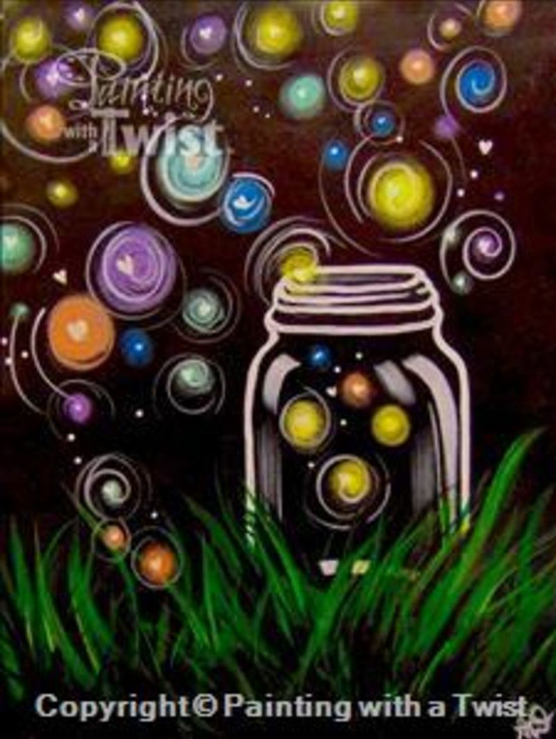 Firefly Jar Art Colorful Firefly Jar Painting Google Search Painting Ideas