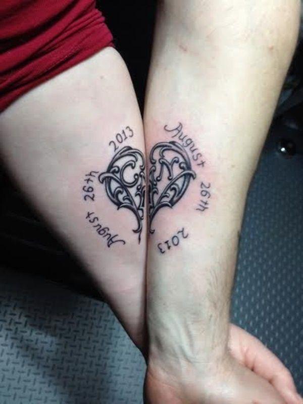 101 matching couple tattoo ideas for passionate lovers couple tattoo ideas tattoo and - Tatouage soeur original ...