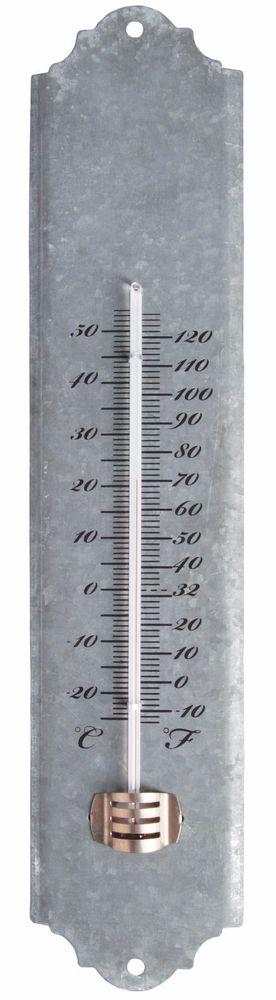 Metal Zinc Indoor Outdoor Garden Wall Thermometer Decorative Gift Xmas Him  Her   EBay