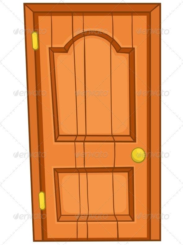 Cartoon Home Door Graphic Design Trends Art Background Design