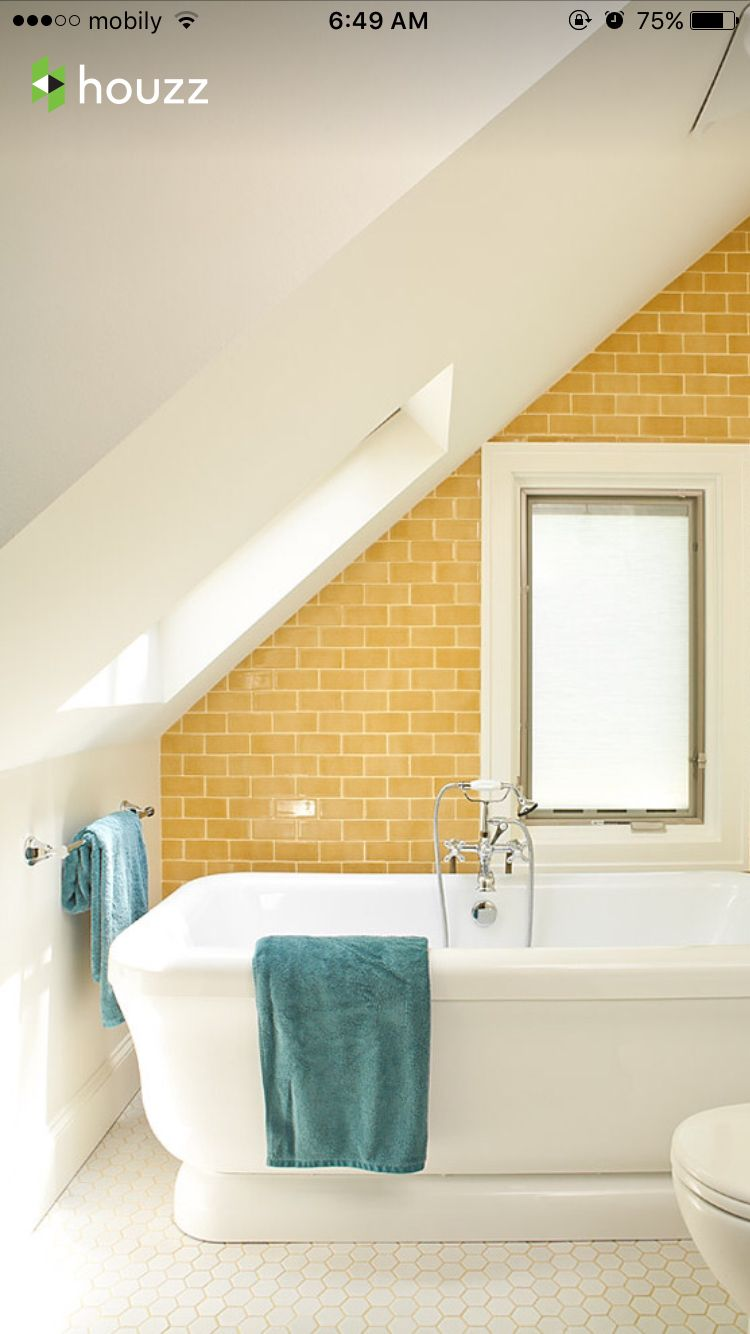 bathroom #houzz | baño verde o amarilo con blanco | Pinterest ...