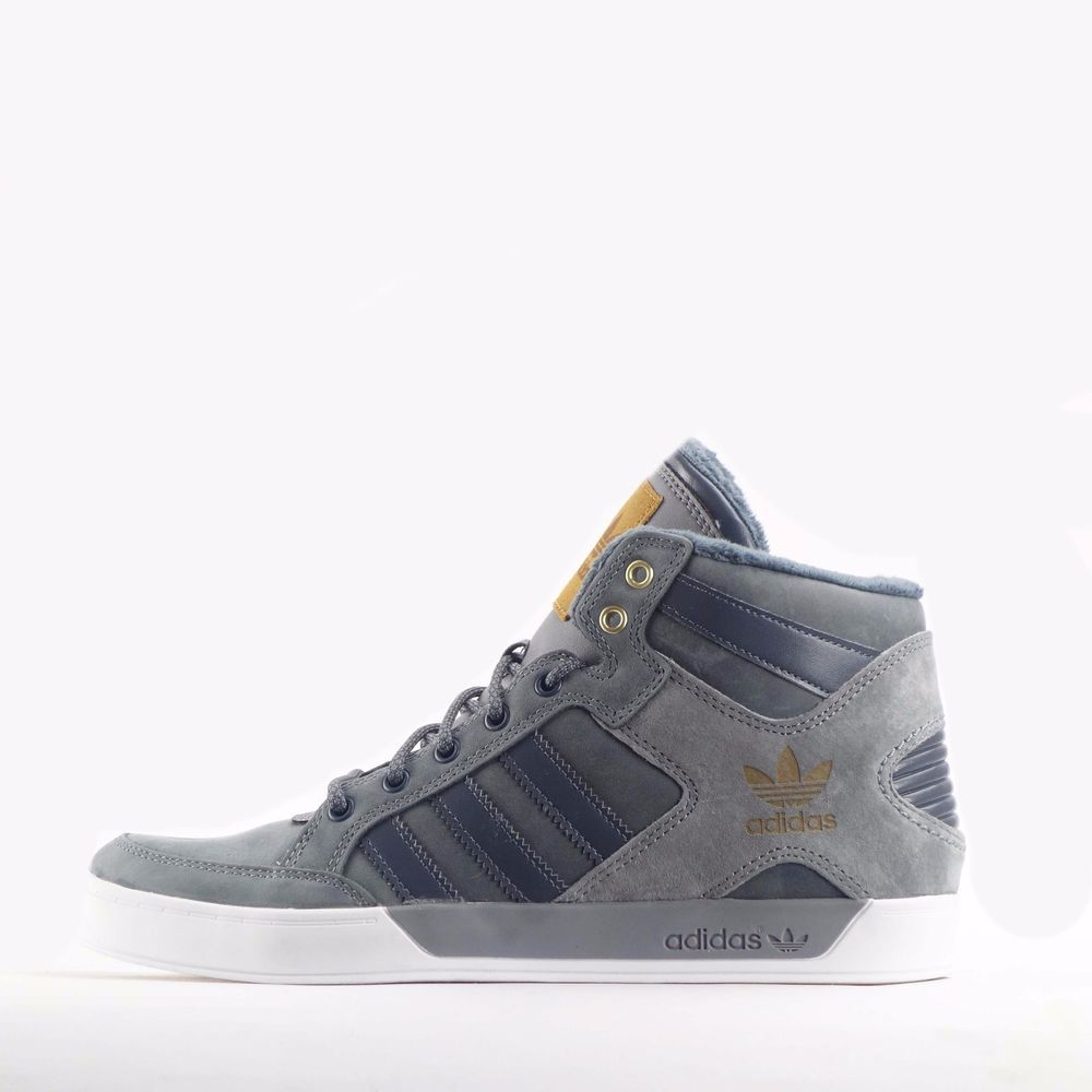 Adidas hardcourt hi waxy crafted men shoes in grey for Adidas hardcourt waxy crafted