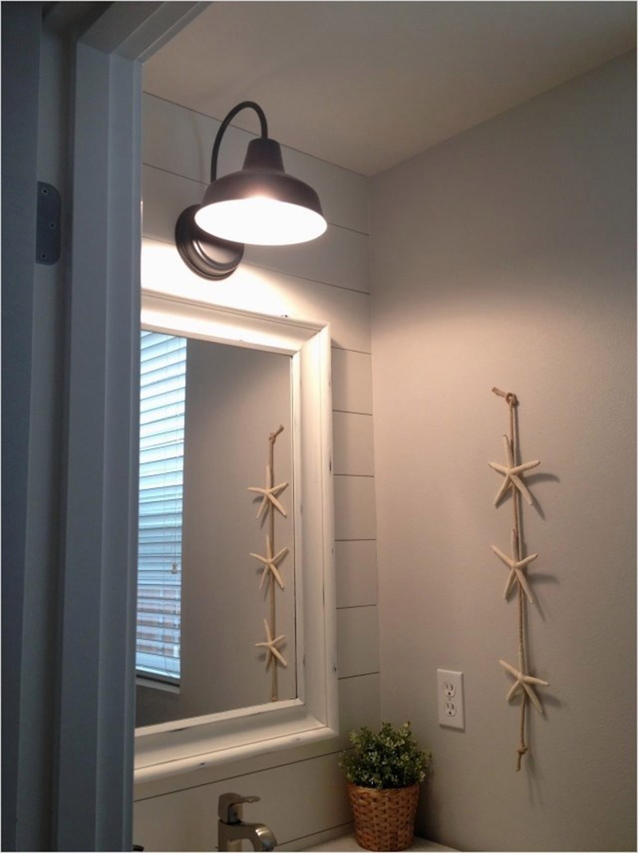 26 Inexpensive Farmhouse Bathroom Lighting Ideas You'll