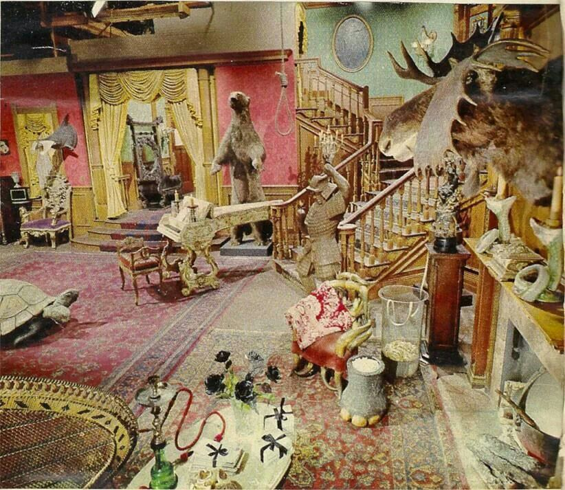 The Original Addams Family Set Photographed In Color So Much
