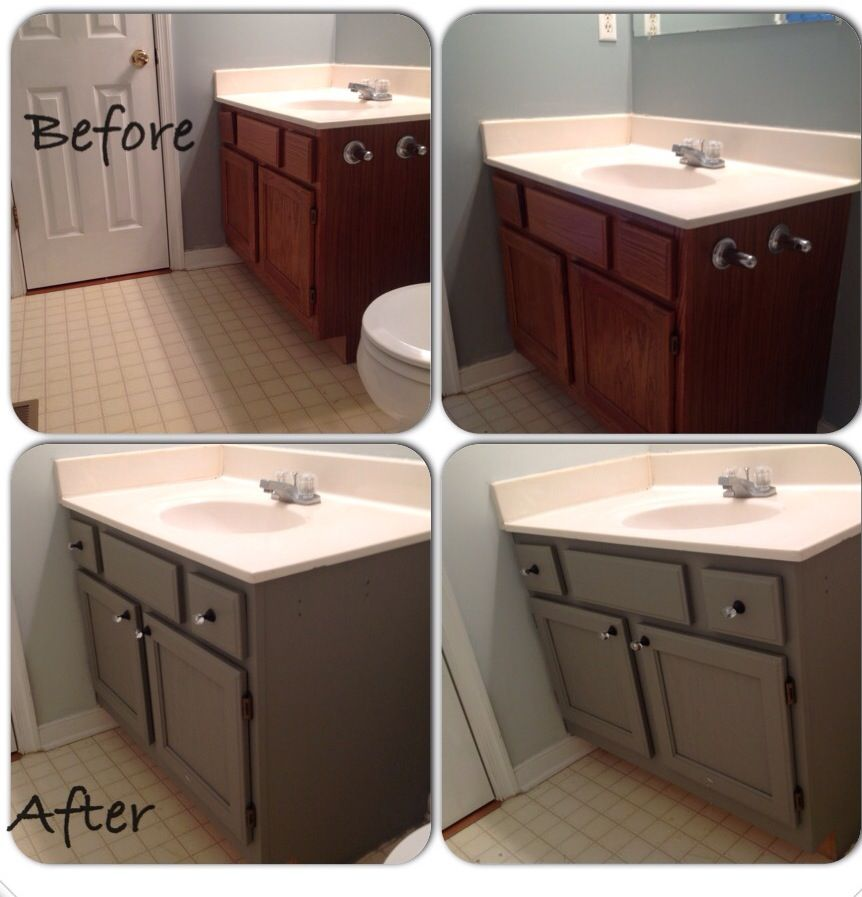 Painted Bathroom Vanity Diy Pinterest