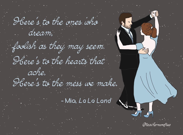 Here's to the ones who dream... #LaLaLand #WhatsYourDream