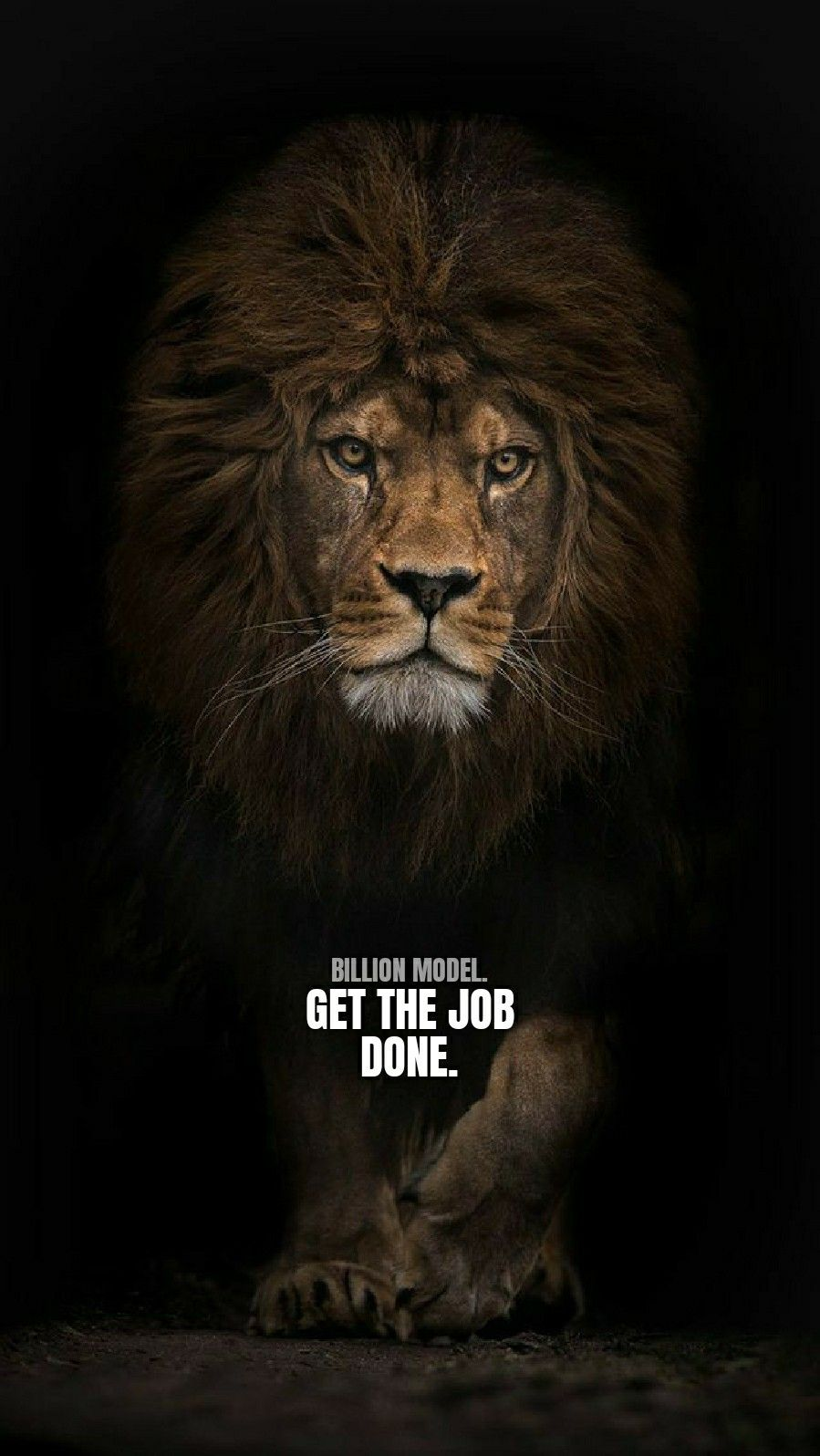 Billion model.  Lion quotes, Inspirational quotes wallpapers