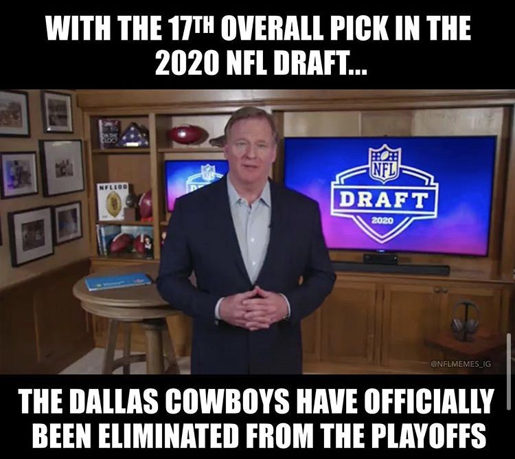27 Nfl Draft Memes And Reactions To Football S 2nd Biggest Night Nfl Draft Nfl Memes Funny Nfl Funny