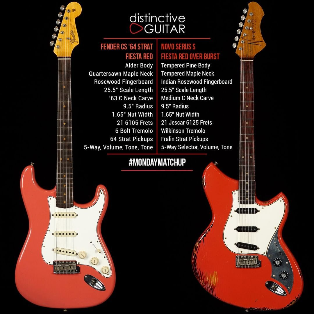 322 Curtidas 10 Comentarios Distinctive Guitar Distinctiveguitar No Instagram Fiesta Red And A Trio Of Singlecoils Which Would You Be Playing Check Ou