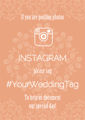 You Can Choose Your Personal Wedding Hashtag On Our Site And Check Out Your Wedding Signs For You T Social Media Wedding Sign Wedding Hashtag Instagram Wedding