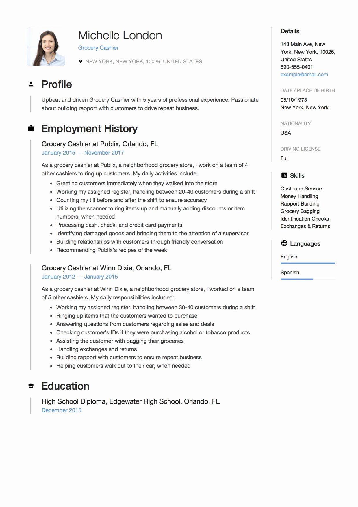Grocery Store Cashier Resume Unique 12 Grocery Cashier Resume Sample S 2018 Free Downloads In 2021 Customer Service Resume Job Resume Samples Medical Assistant Resume