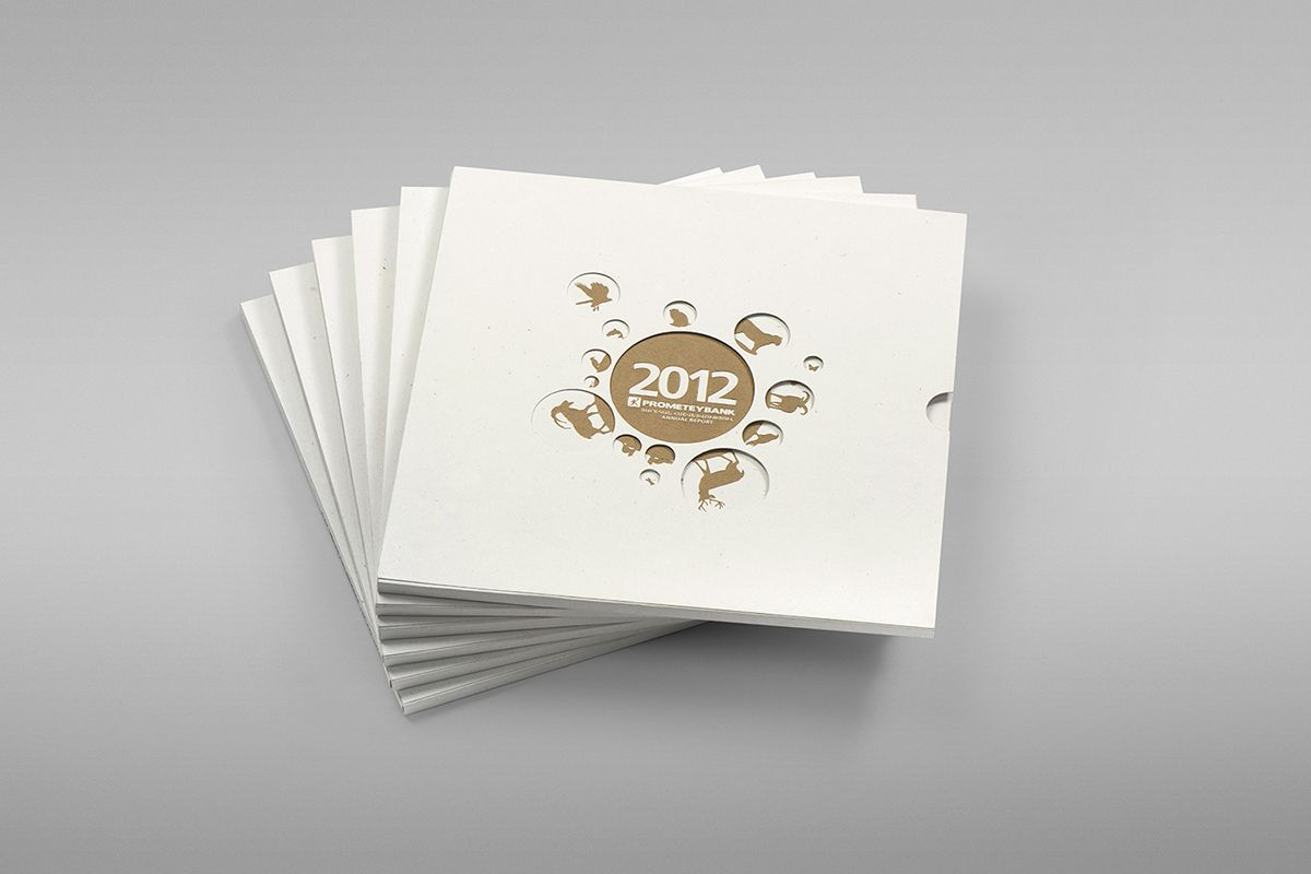Prometey Bank Annual Report 2012 on Behance Magazin und