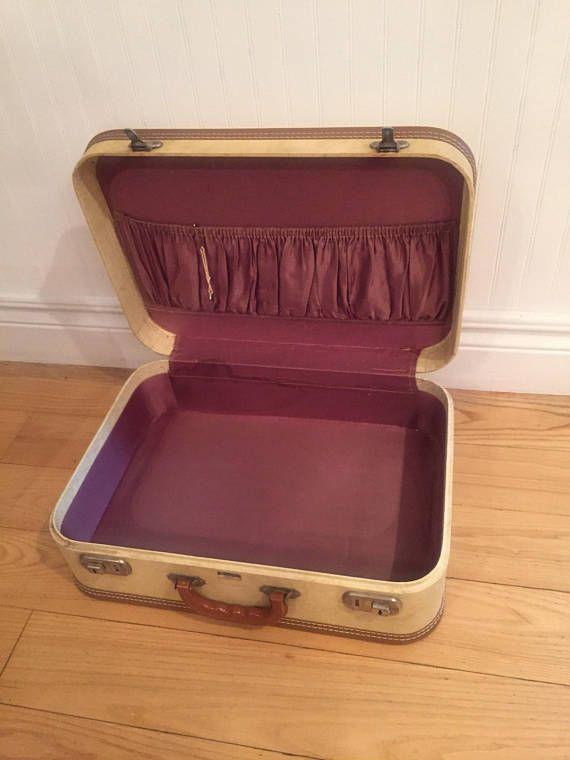 Vintage Dionite Suitcase Vintage Luggage Tan Suitcase Dionite Luggage Suitcase Vintage Vintage Luggage Vintage Suitcase