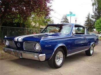 1966 Plymouth Barracuda. I don't know who owns this, but they are so cool.