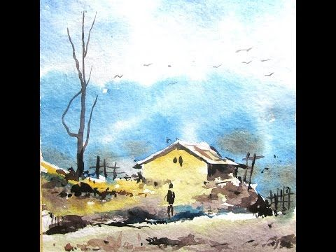 Simple Landscape Painting Watercolor Painting For Beginners Paint Watercolor Paintings Easy Watercolor Landscape Paintings Watercolor Paintings For Beginners
