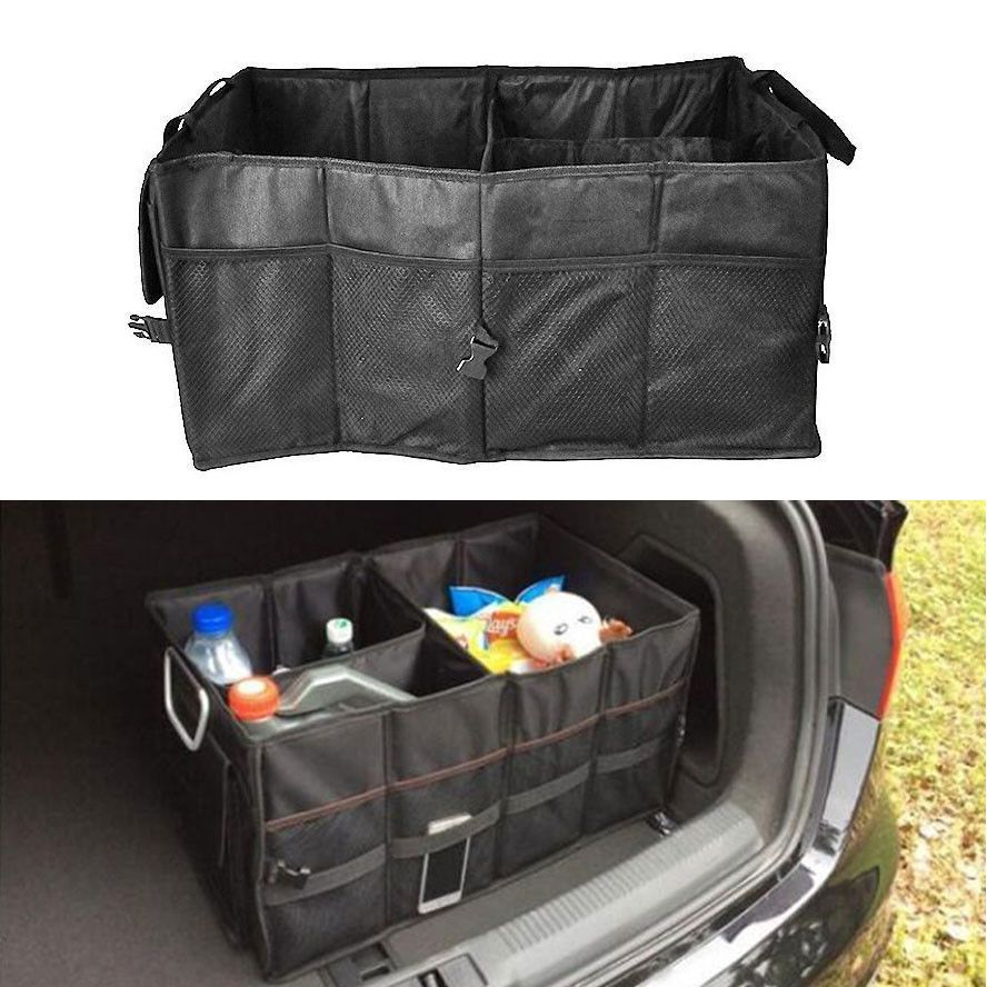 BBQFUKA Multi Purpose Car Trunk SUV Cargo Organizer Foldable Storage Box Bag Tool