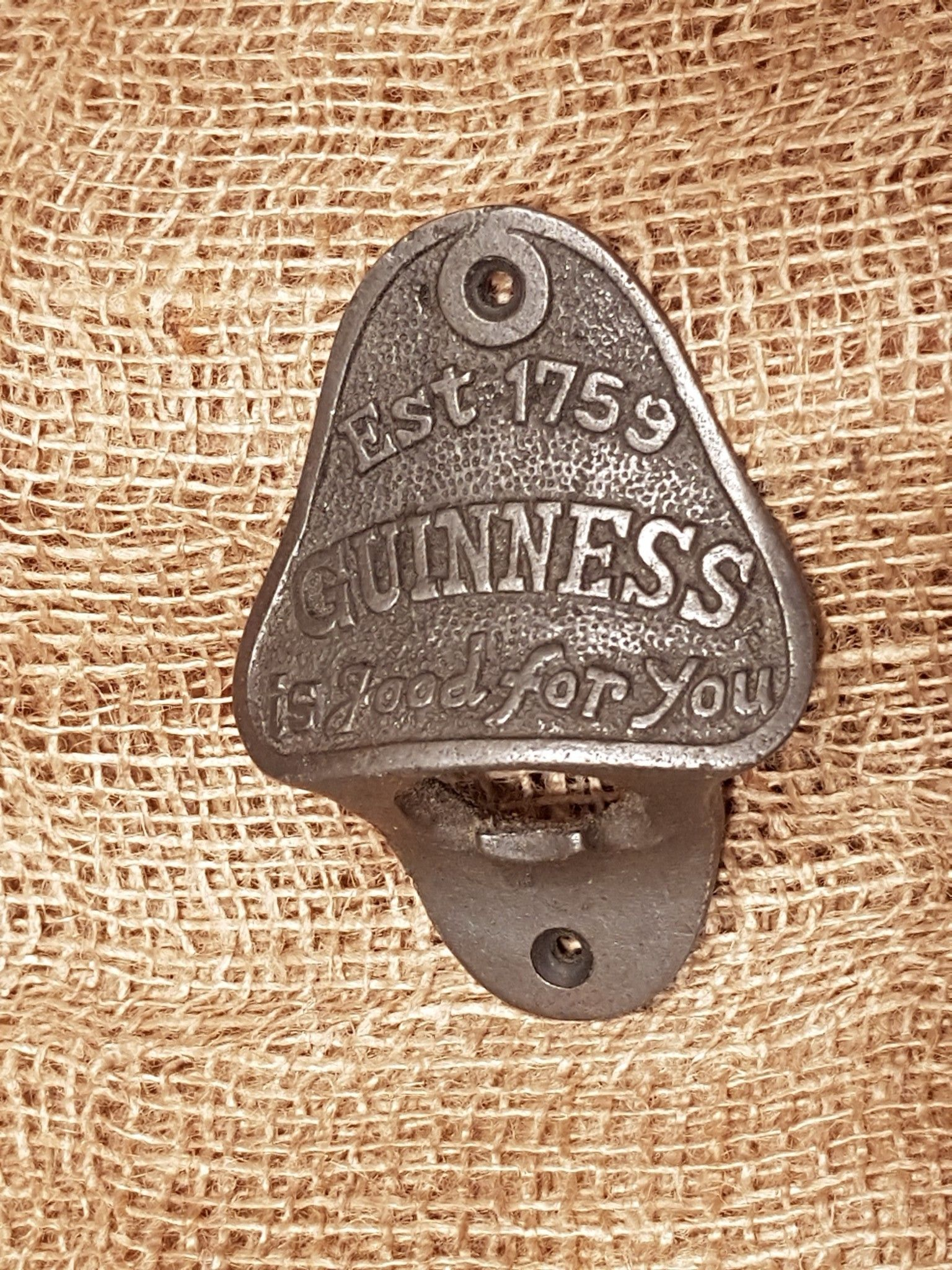 The Guinness Antique Iron Bottle Opener Cast Iron Bottle Opener Mounted Bottle Opener Wall Mounted Bottle Opener