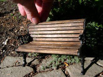 Peachy 1 Scale Miniature Garden Miniature Park Bench Aged And Camellatalisay Diy Chair Ideas Camellatalisaycom