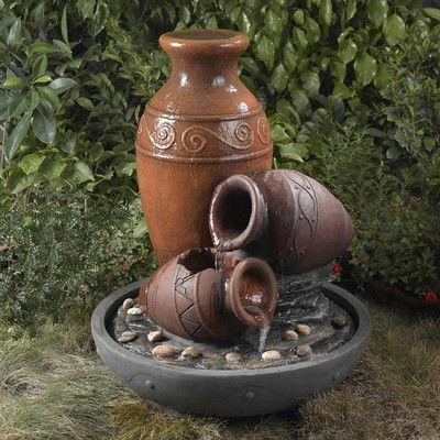 Fountain Cellar Pentole Pot Outdoor/Indoor Fountain with Illumination | Wayfair