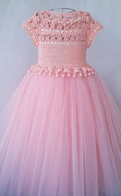 Feito e punto vestido rosa