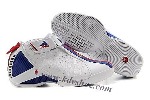 Adidas T-Mac 4 Tracy McGrady Shoes White Blue Red