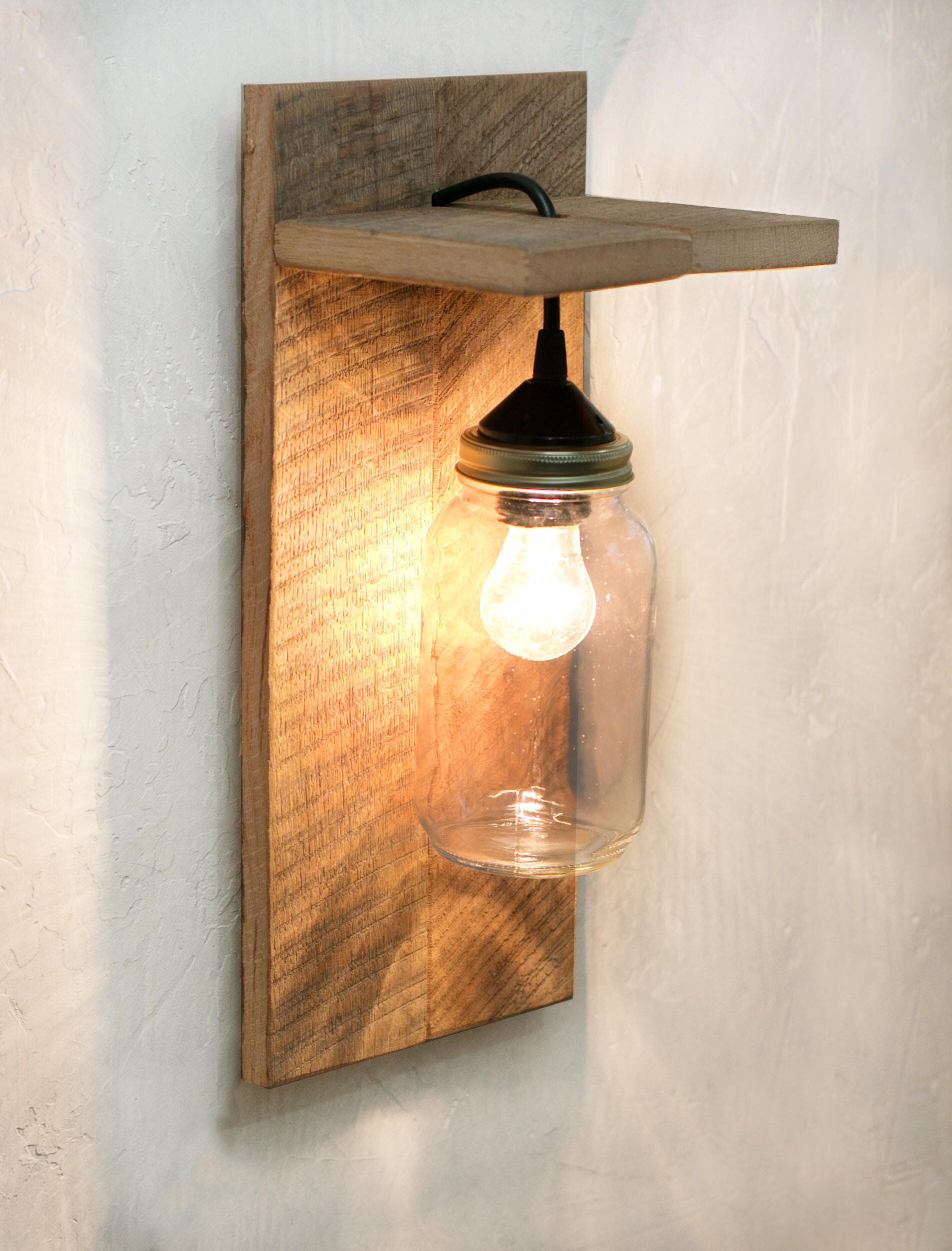 Mason Jar Light Fixture Reclaimed Wood Wall Sconce Wall Lamp Wall Mounted Light Rustic Deco Mason Jar Light Fixture Wood Wall Lamps Mason Jar Lighting