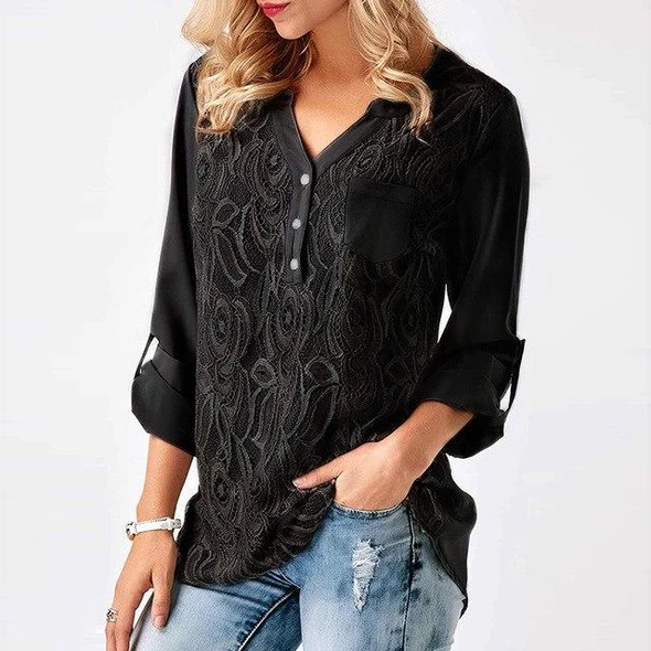 UK Womens Casual Long Sleeve V Neck Floral Blouse Ladies Holiday Shirt Tops Tee