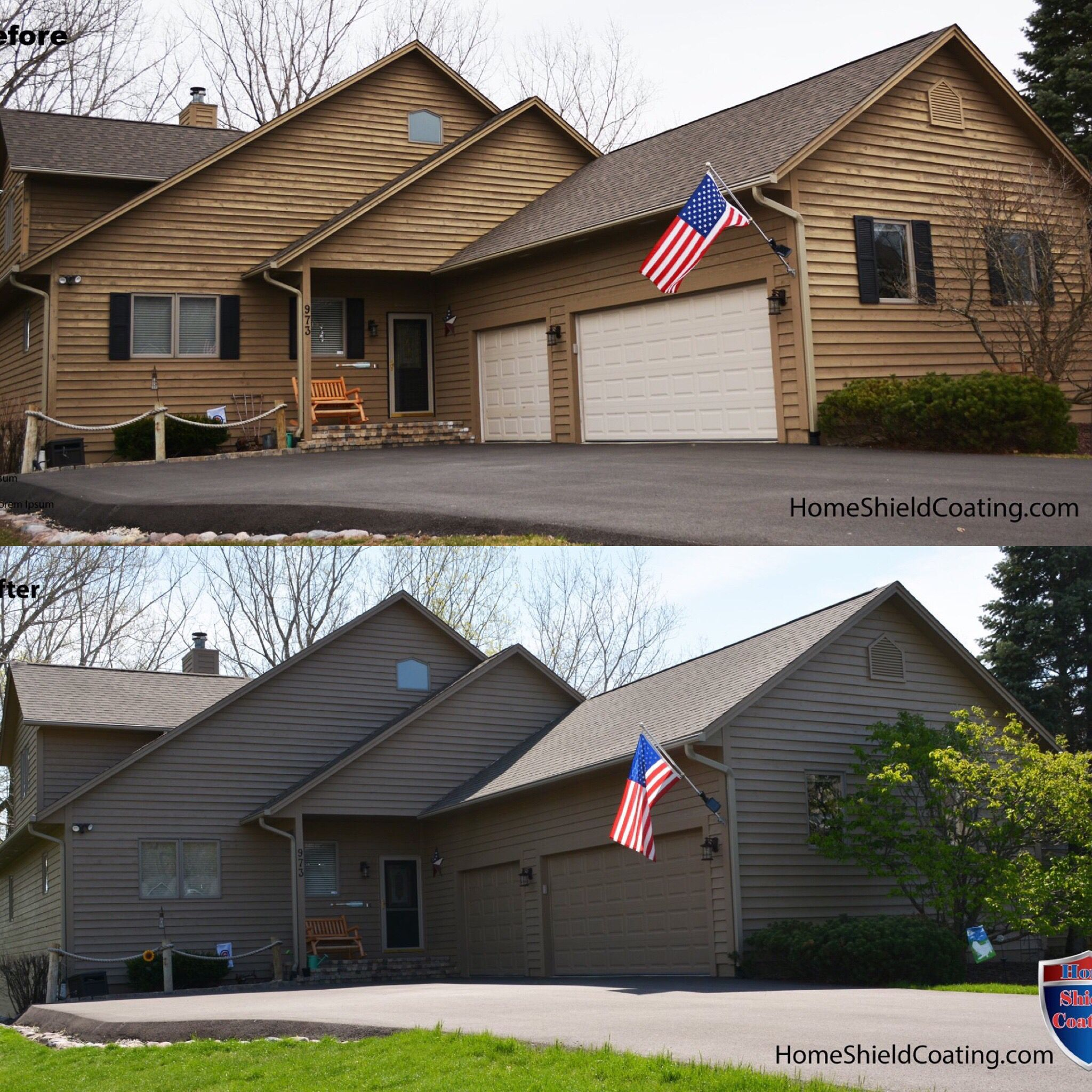 Before After Home Shield Cedar Siding Exterior Remodel