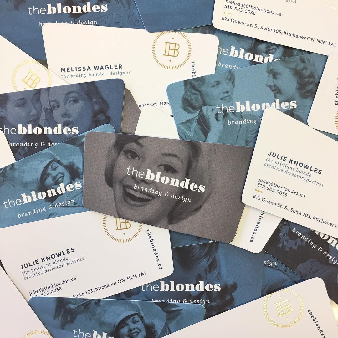 Our very own \'Blonde\' business cards! #businesscarddesign ...