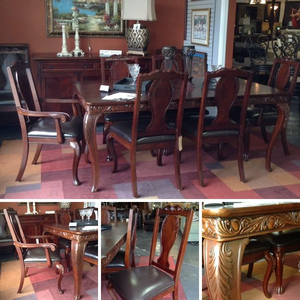 Chris Madden  Dining Table W 8 Chairs1 Leaf  $159995  Too New Dining Room Chairs San Antonio Design Decoration