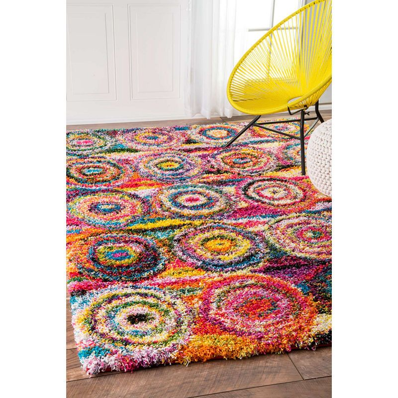 Nuloom Kindra Circles Shaggy Rug In 2019 Cool Rugs Rugs