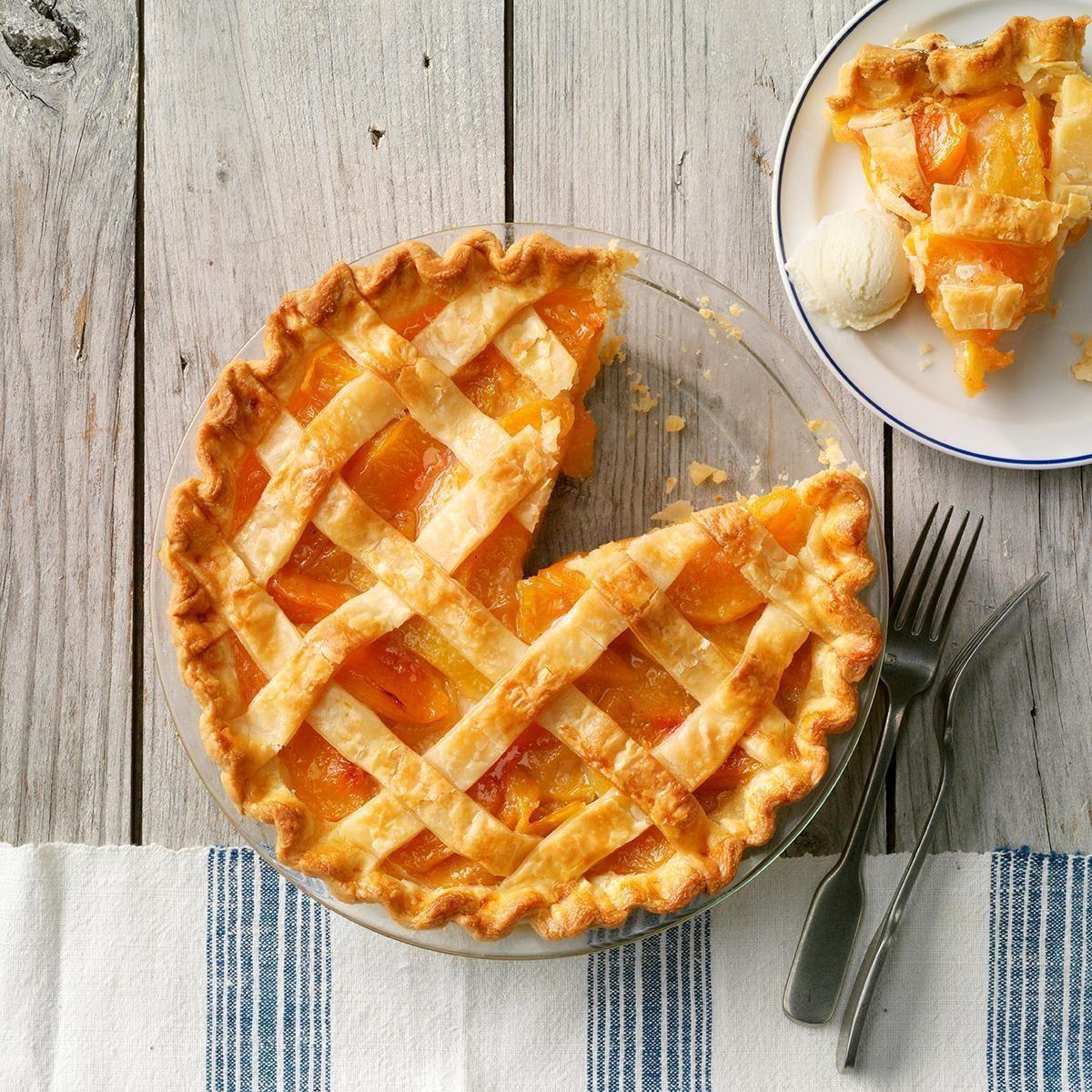 Golden Peach Pie - Pies -
