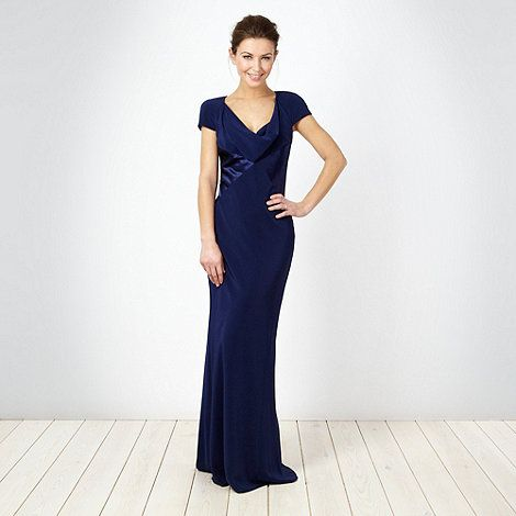 Dark Blue Cowl Neck Maxi Dress At Debenhams Ie Dark Blue Bridesmaid Dresses Maxi Dress Dresses
