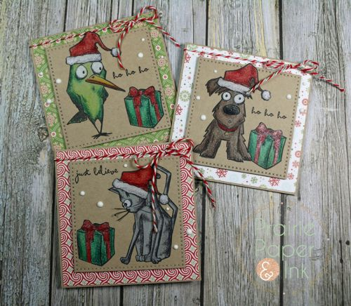 Tim Holtz Crazy Animals | Prismacolor Pencils | AmyR 2016 Christmas Card Series #16 | Prairie Paper & Ink | Bloglovin'