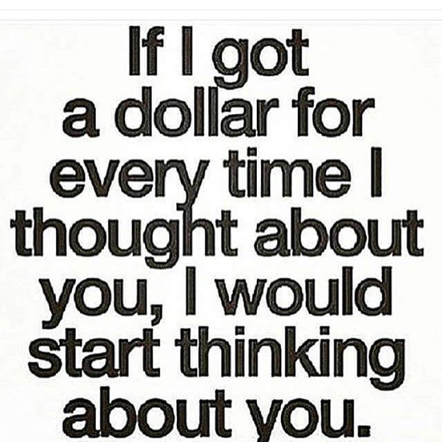 But until thinking about you makes me money, you'll continue to be irrelevant.
