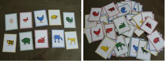 Jeu de cartes pour apprendre les couleurs et les animaux jeux pinterest apprendre les - Animaux a imprimer en couleur ...